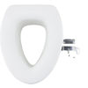 4.9 Inches Quick Install Assisting Elevated Raised Toilet Seat - Elongated Type