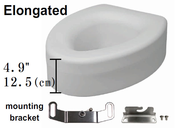 Elevated Toilet Seat Elongated Bowl Champion 4 Right