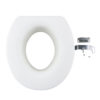 4.9 Inches Quick Install Assisting Elevated Raised Toilet Seat - Round Type Parts A0136C