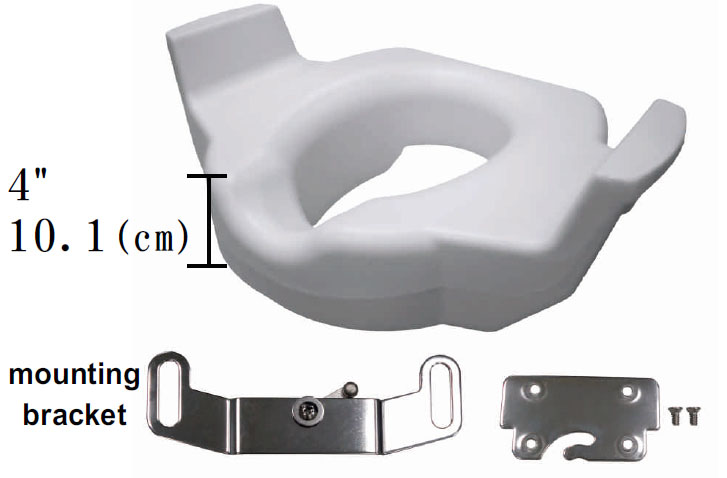 Pleasant Assisting Elevated Raised Toilet Seat With Handles Andrewgaddart Wooden Chair Designs For Living Room Andrewgaddartcom