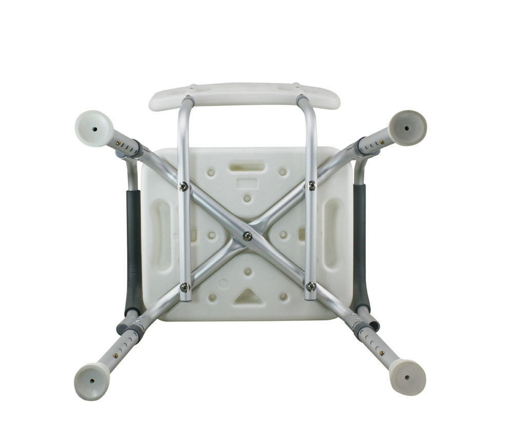 Legs Adjustable Bathroom Shower Chair With Handle And