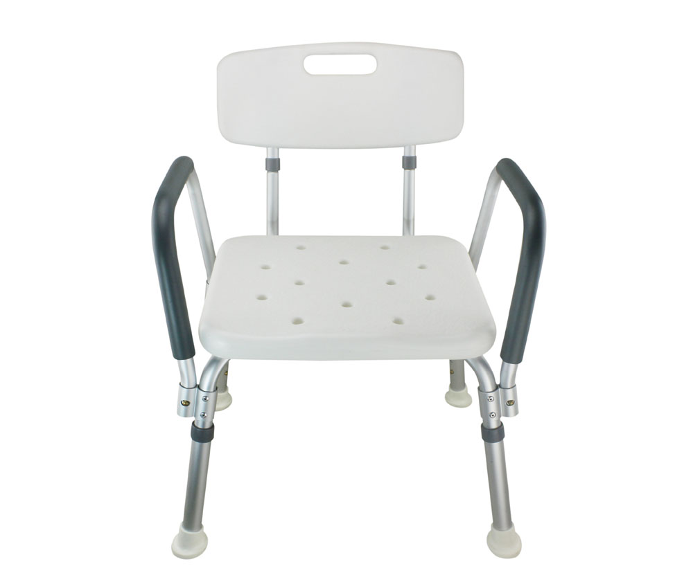 Legs Adjustable Bathroom Shower Chair with Handle and ...