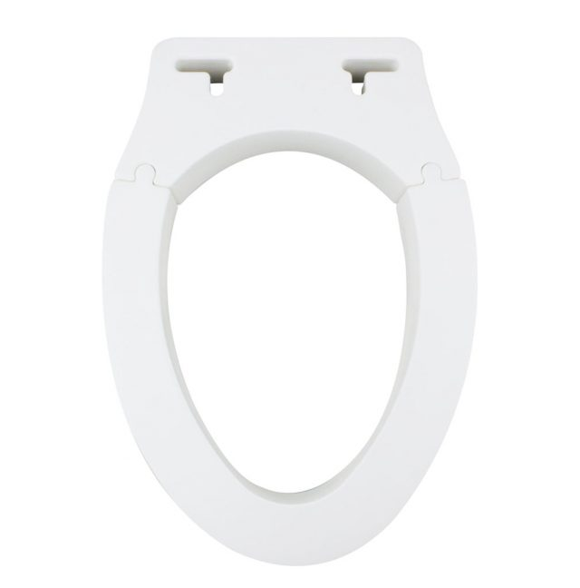 Removable Elevated Raised Toilet Seat -Elongated Type