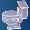 Removable Elevated Raised Toilet Seat - Elongated Type Assembly