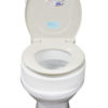 Removable Elevated Raised Toilet Seat - Elongated Type Schematic Diagram