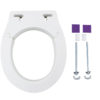 Removable Elevated Raised Toilet Seat - Round Type Accessories