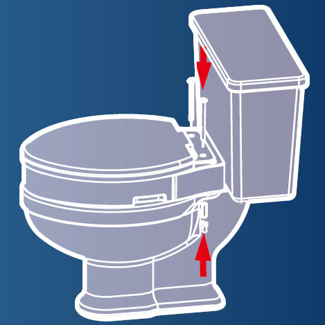 Removable Elevated Raised Toilet Seat - Round Type Assembly