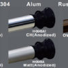 Seamless Shower Rod H0489 H0649 Finish Coating