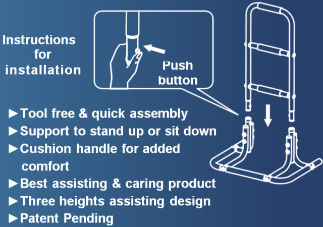 Three Level Functional Assisting Rise-Up Rail Beige A-0111A Schematic