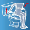 Toilet Safety Assisting Frame Rails Schematic Diagram