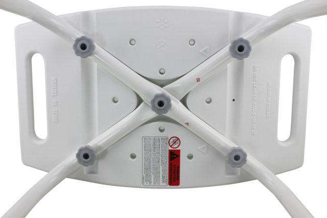 Tool-Free Bathroom Safety Shower Tub Bench Chair A-0144A Bottom