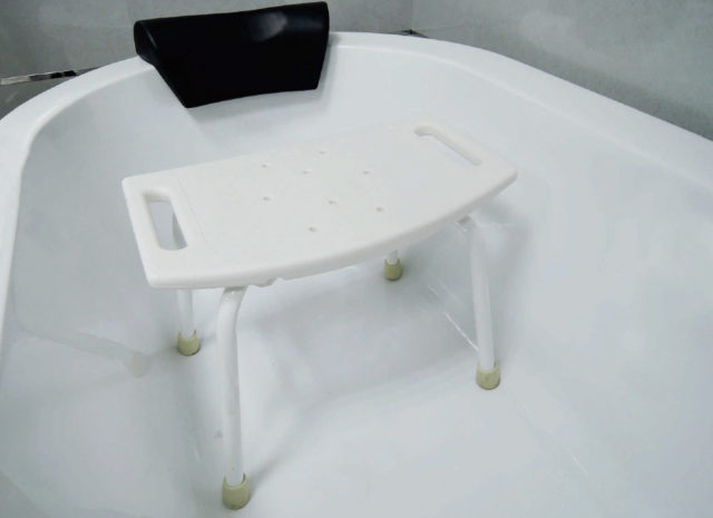 Tool-Free Bathroom Safety Shower Tub Bench Chair A-0144A Schematic Diagram
