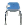 Tool-Free EVA Slip Soft Mat Legs Adjustable Bathroom Safety Shower Chair - Chrome Type A-0166B Side
