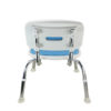 Tool-Free EVA Slip Soft Mat Legs Adjustable Bathroom Safety Shower Chair with Backrest - Chrome Type A-0167B Back