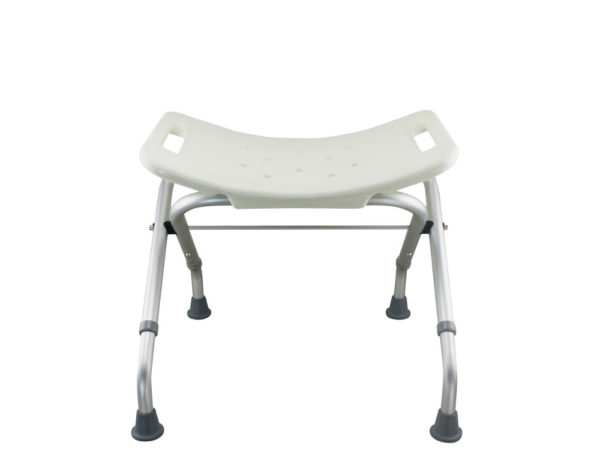 Tool-Free Foldable Legs Adjustable Bathroom Safety Shower Chair – Anodizing Type A-0081B