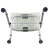 Tool-Free Foldable Legs Adjustable Bathroom Safety Shower Chair – Anodizing Type A-0081B Bottom