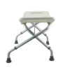 Tool-Free Foldable Legs Adjustable Bathroom Safety Shower Chair – Anodizing Type A-0081B Side