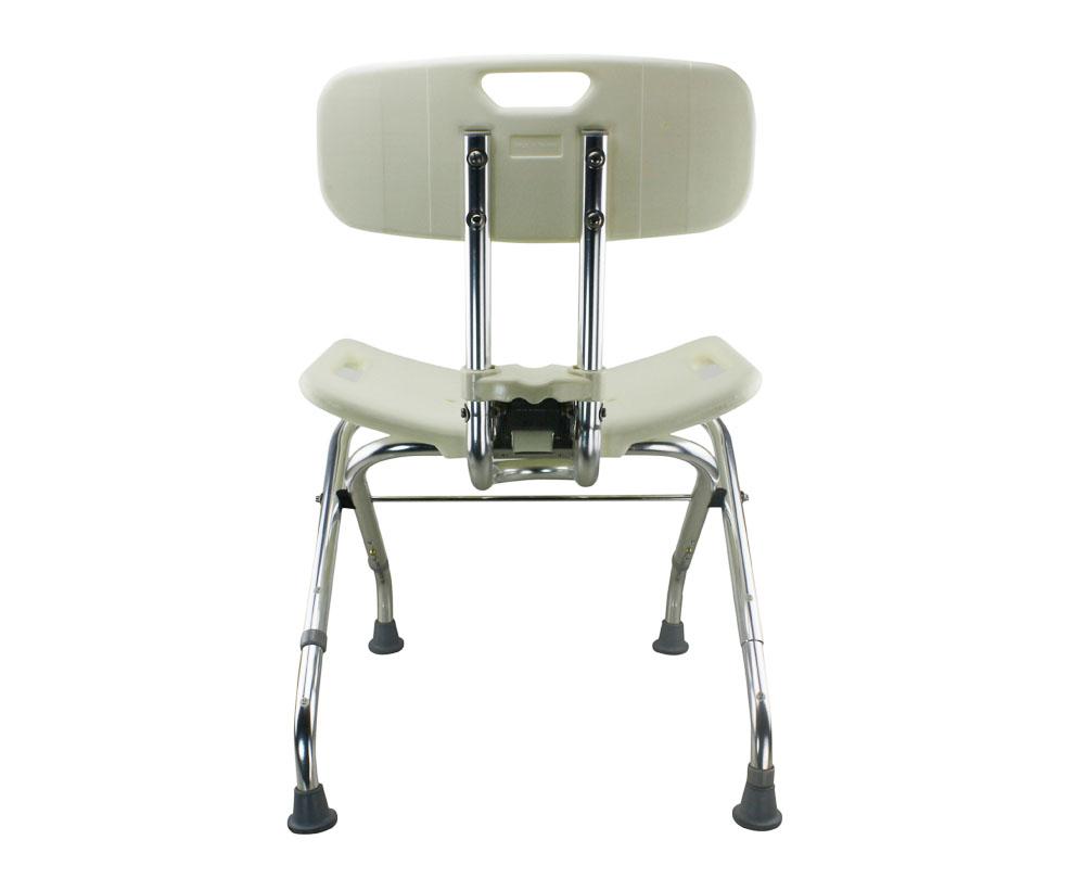 Tool Free Foldable Legs Adjustable Bathroom Shower Chair