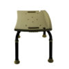 Tool-Free Legs Adjustable Bathroom Safety Shower Chair - Classic Brown Series A-0092E (Medium Type) Side