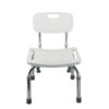 TTool-Free Legs Adjustable Bathroom Safety Shower Chair with Backrest - Chrome Type A-0143A