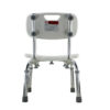 TTool-Free Legs Adjustable Bathroom Safety Shower Chair with Backrest - Chrome Type A-0143A Back