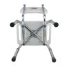 TTool-Free Legs Adjustable Bathroom Safety Shower Chair with Backrest - Chrome Type A-0143A Bottom