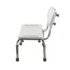 TTool-Free Legs Adjustable Bathroom Safety Shower Chair with Backrest - Chrome Type A-0143A Side