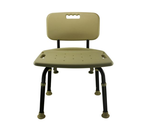 Tool-Free Legs Adjustable Bathroom Safety Shower Chair with Backrest - Classic Brown Series A-0088C