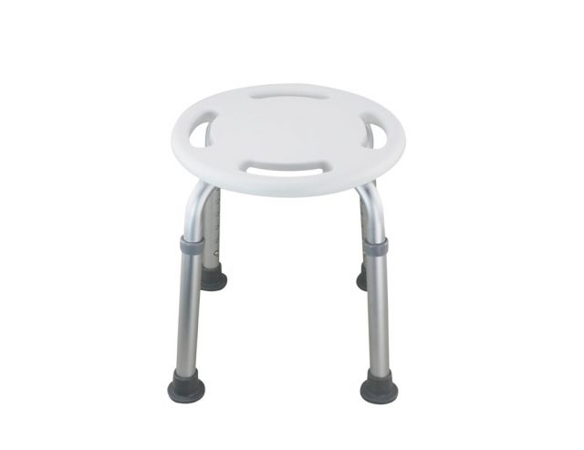 Tool-Free Legs Adjustable Bathroom Safety Round Shower Chair A-0145A