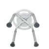 Tool-Free Legs Adjustable Bathroom Safety Round Shower Chair A-0145A Bottom