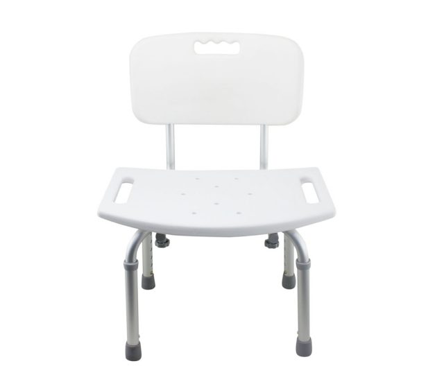 Tool-Free Legs Adjustable Bathroom Safety Shower Tub Bench Chair with Backrest Anodized Matt Type A-0233A