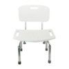 Tool-Free Legs Adjustable Bathroom Safety Shower Tub Bench Chair with Backrest – Glossy Type A-0233B