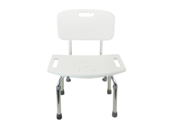 Tool Free Legs Adjustable Bathroom Safety Shower Tub Bench Chair With  Backrest U2013 Glossy Type