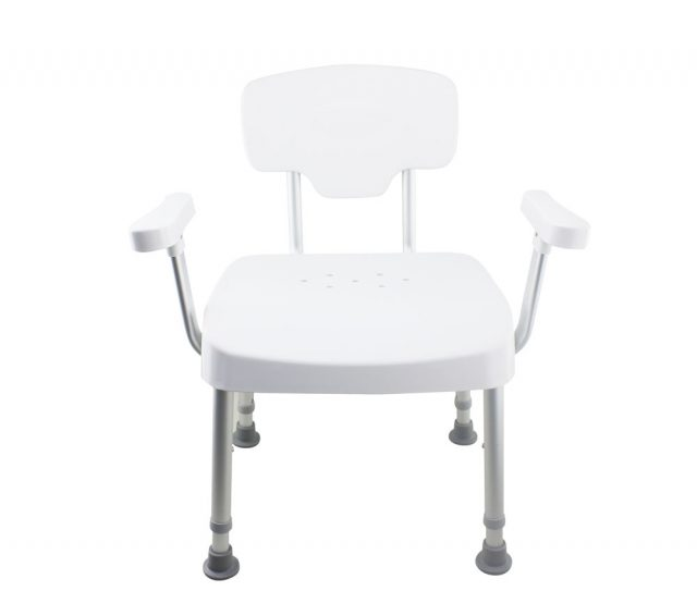 Tool-Free Legs Adjustable DURA Shower Tub Chair with Handle and Backrest A-0235A1