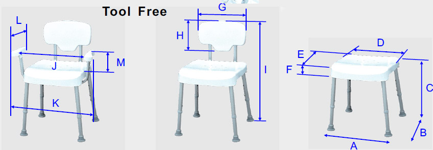 DURA-Shower-Tub-Chair-Series-Dimensions-Overview