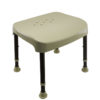 Tool Free Legs Adjustable DURA Shower Tub Chair A-0231A1 Side