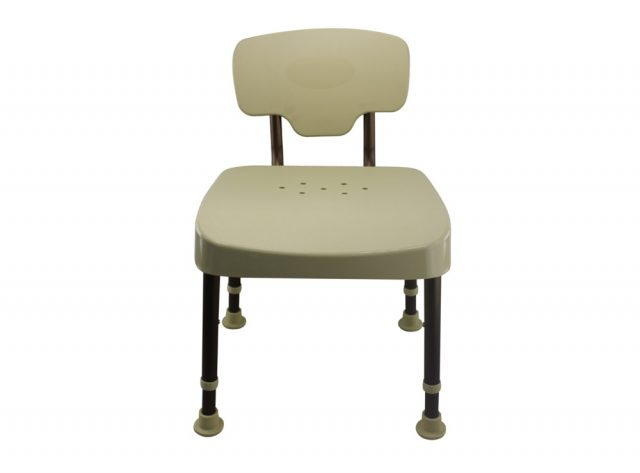 Tool-Free Legs Adjustable DURA Shower Tub Chair with Backrest A0235A2