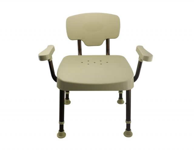 Tool-Free Legs Adjustable DURA Shower Tub Chair with Handle and Backrest A0235A3
