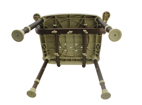 Tool-Free Legs Adjustable DURA Shower Tub Chair with Handle and ...