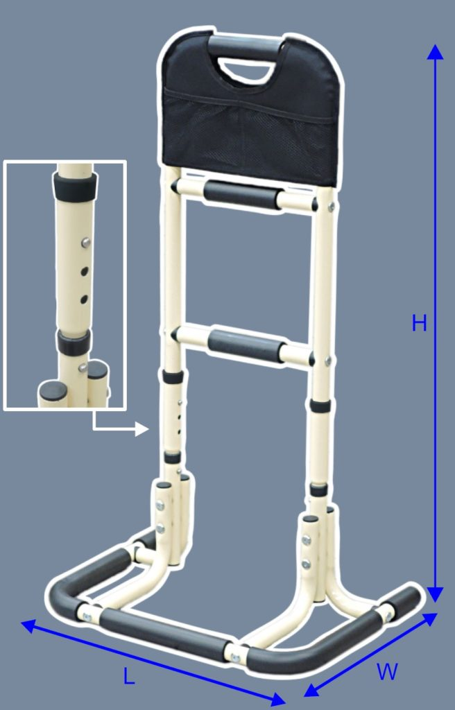 Three-level-functional-rail-height-adjustable-pipe-set-included-A-0118A-P4