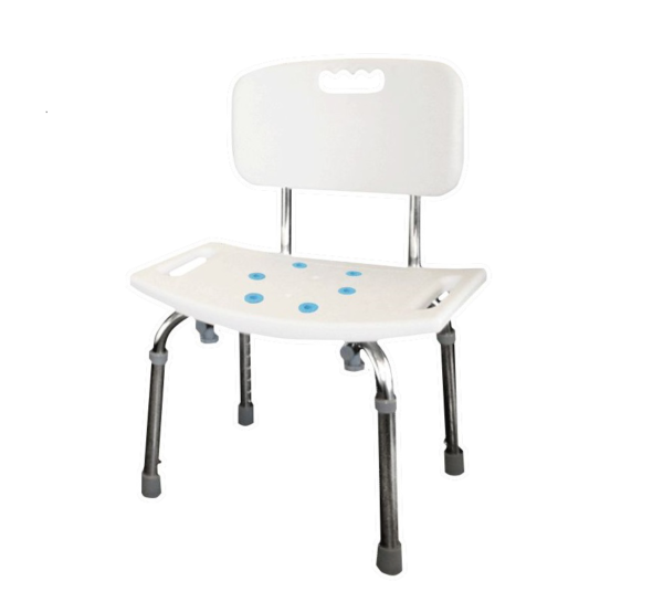 Tool-free-adjustable-shower-chair-back-rest-non-slip-pads-A-0233F